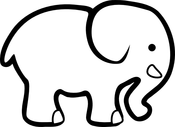 Line Drawing Elephant : Elephant line drawings clipart best