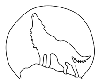 Wolf howling at the moon pictures clipart best for Full moon coloring pages