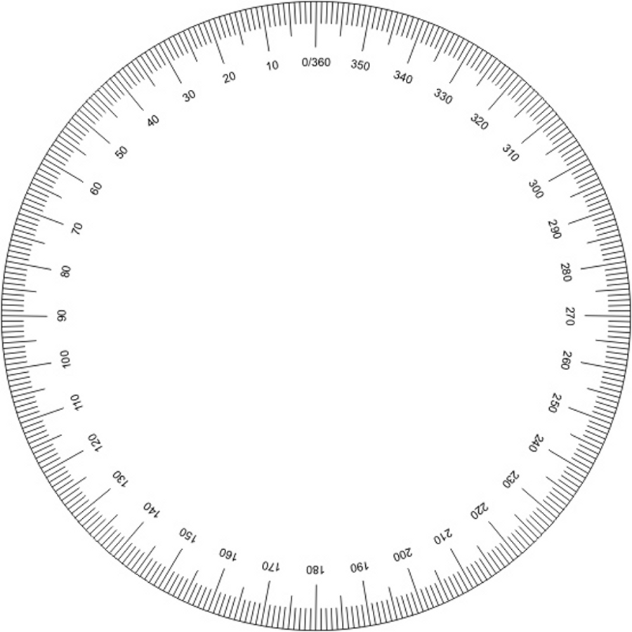 Printable 360 Protractor Clipart Best