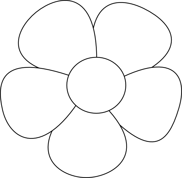 Simple Flower clip art - vector clip art online, royalty free ...