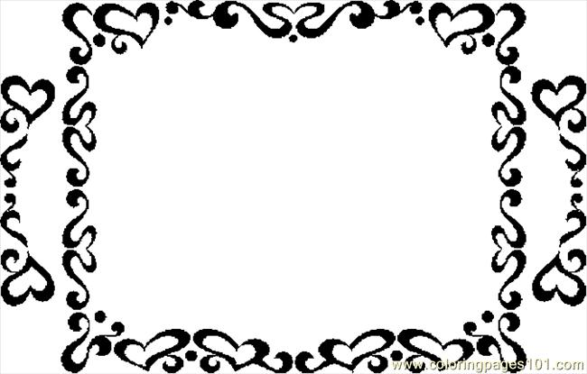 free picture frame coloring pages - photo#35