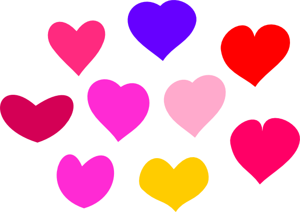 Clip Art Line Of Hearts : Line of hearts clip art clipart best