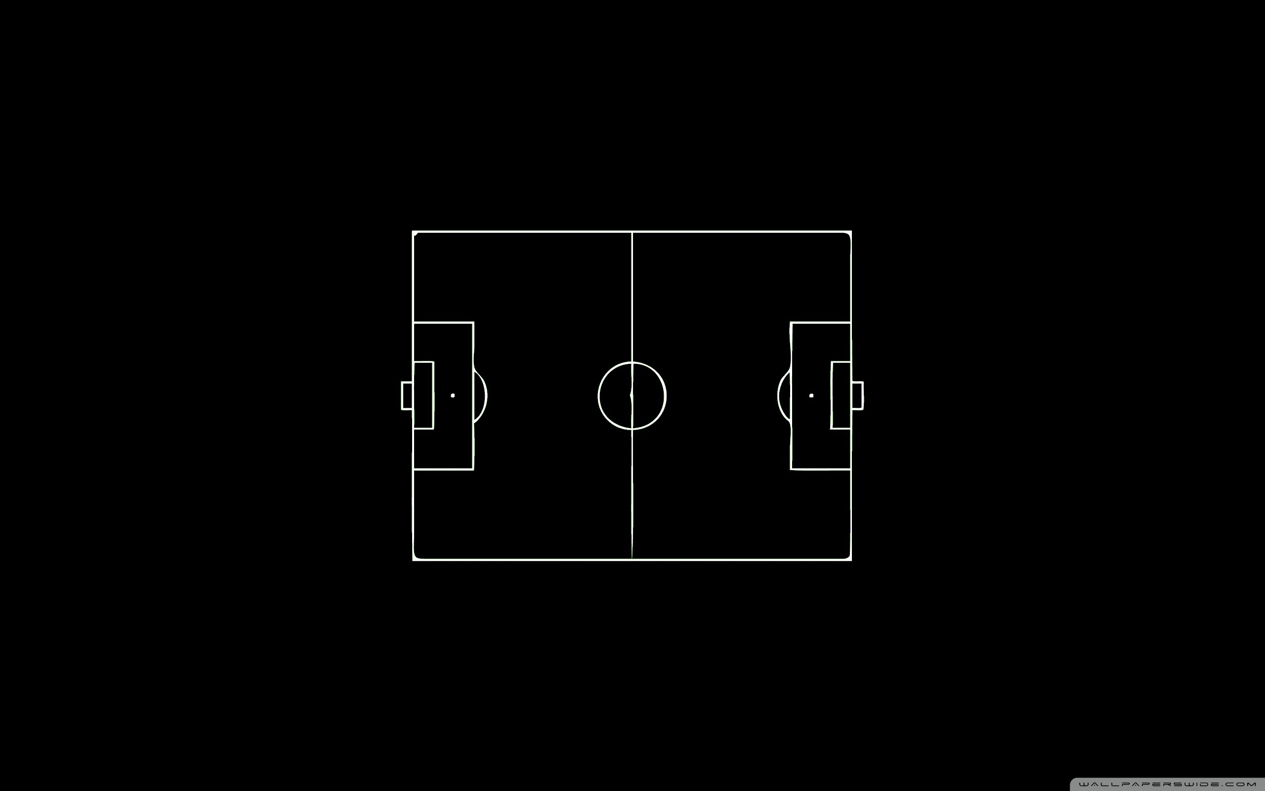 soccer field, layout, black and white