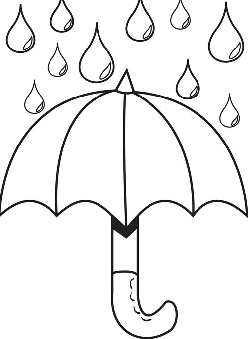 rain drop coloring pages - photo#24