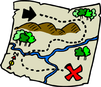 Geocaching Clip Art on Map Reading Skills
