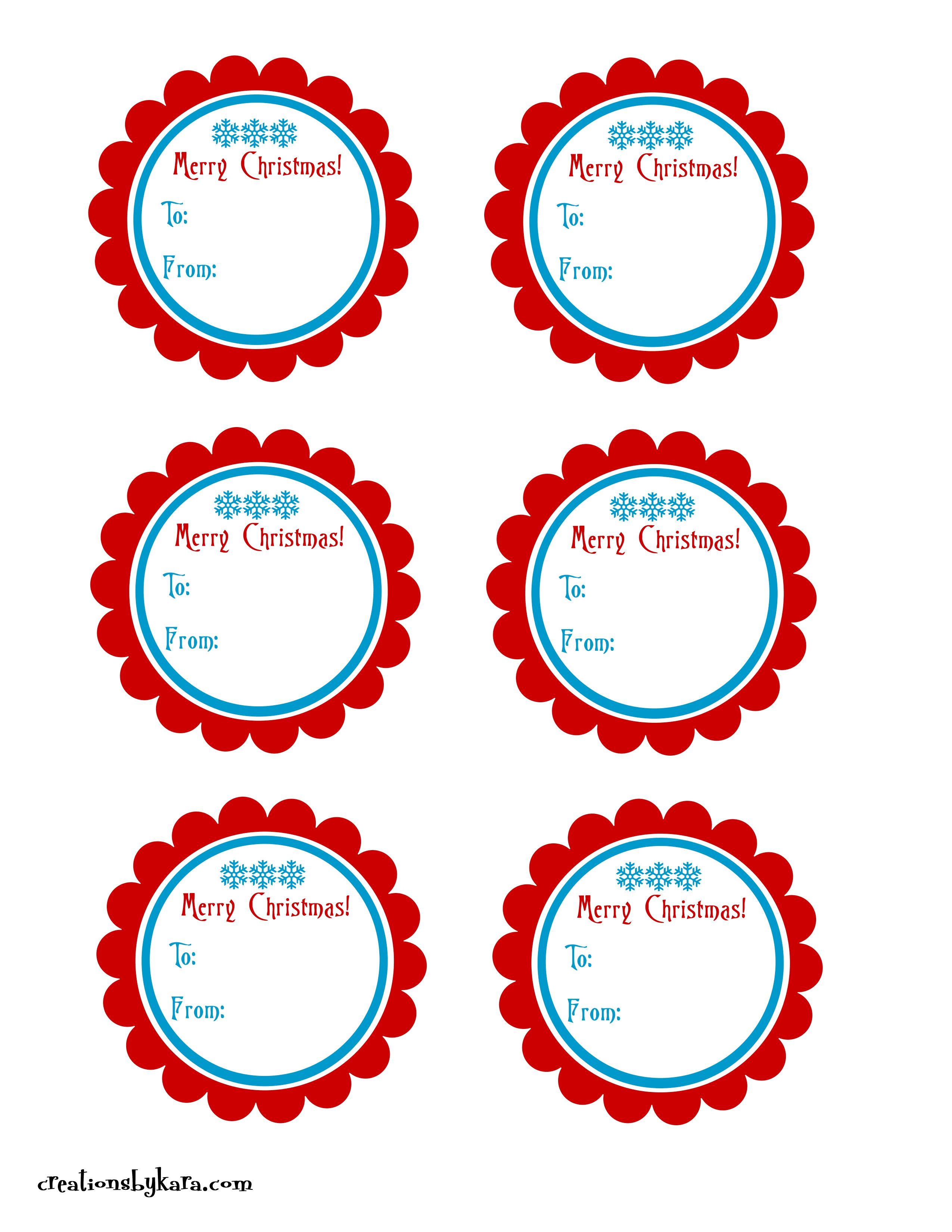 Christmas Gift Tags {Free Printables} - Creations by Kara - ClipArt ...