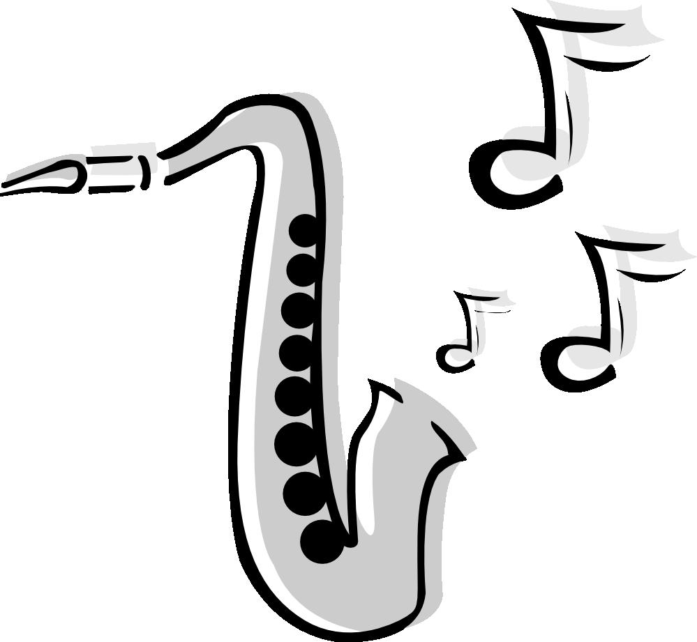 Saxophone art black and white
