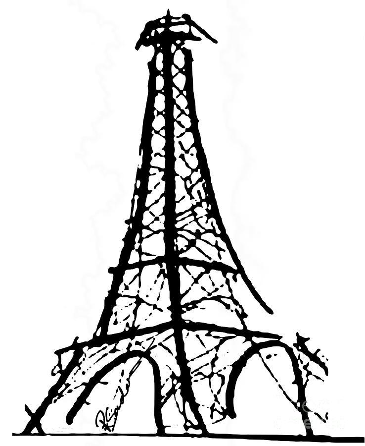 Line Art Eiffel Tower : Sketch of eiffel tower clipart best