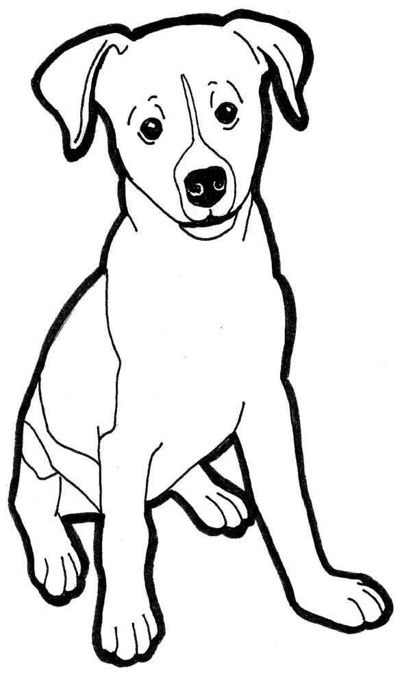 coloring pages of rat terriers - photo#36