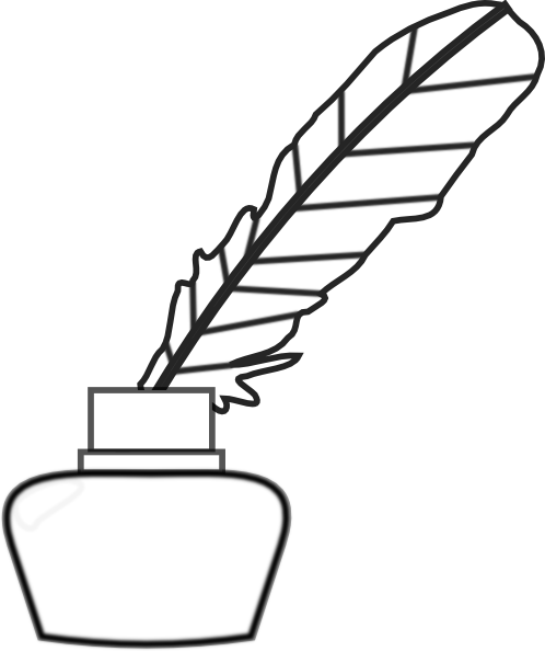 Book And Quill Drawing Quill Pen Clip Art