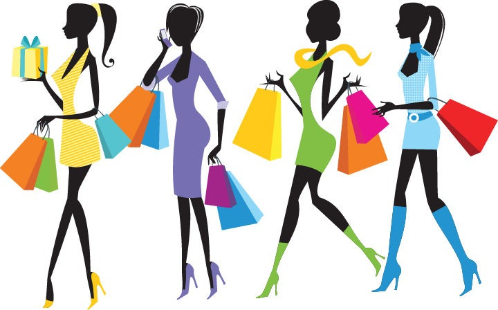 Fashion Girl Clipart Fashion Shopping Girls