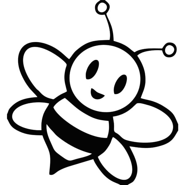 Bee Outline - ClipArt Best