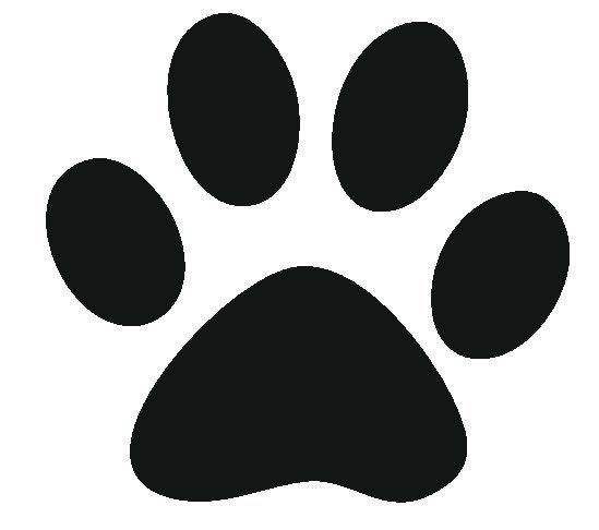 Unusual image pertaining to dog paw print stencil printable free