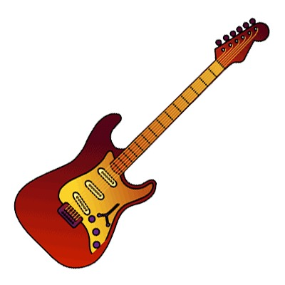 Electric Guitar Clipart Rock 'n' Roll Music Icon | Just Free Image ...