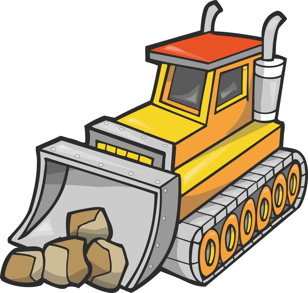 bulldozer clip art | Hostted