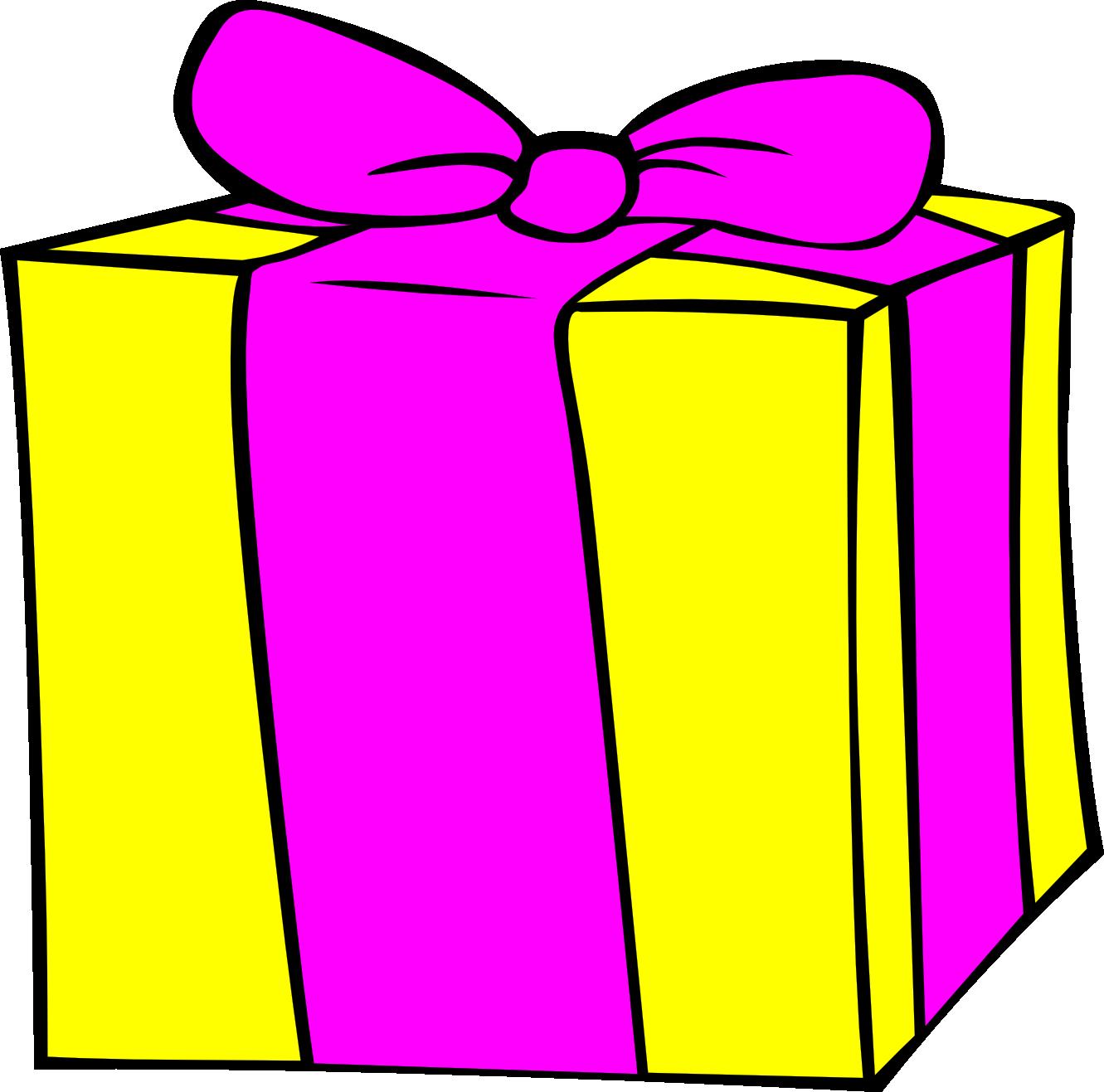 Yellow Present Clip Art