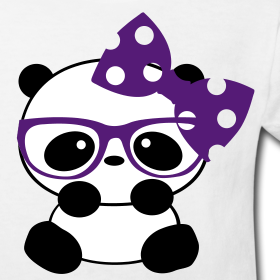 "Panda Cute with Bow Kid Shirt | ""Sweet Designs"""