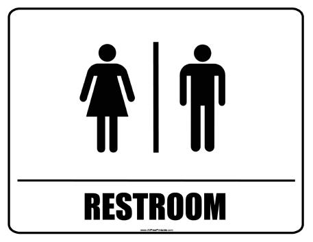 Comprehensive image intended for bathroom sign printable
