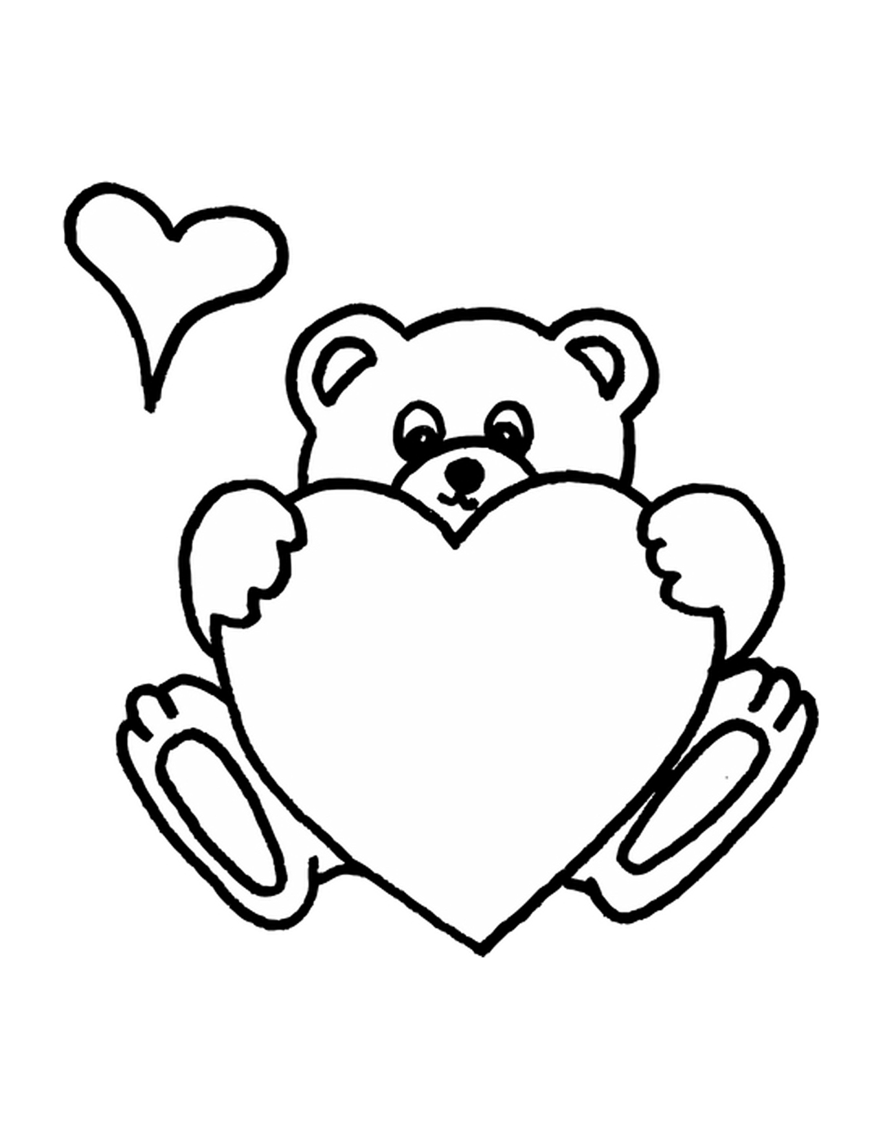 teddy bear heart coloring pages - photo#8