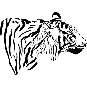 Amazon.com - Tiger Wall Decal Sticker Mural - Tiger Silhouette ...