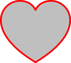 Gray Heart With Red Outline clip art - vector clip art online ...