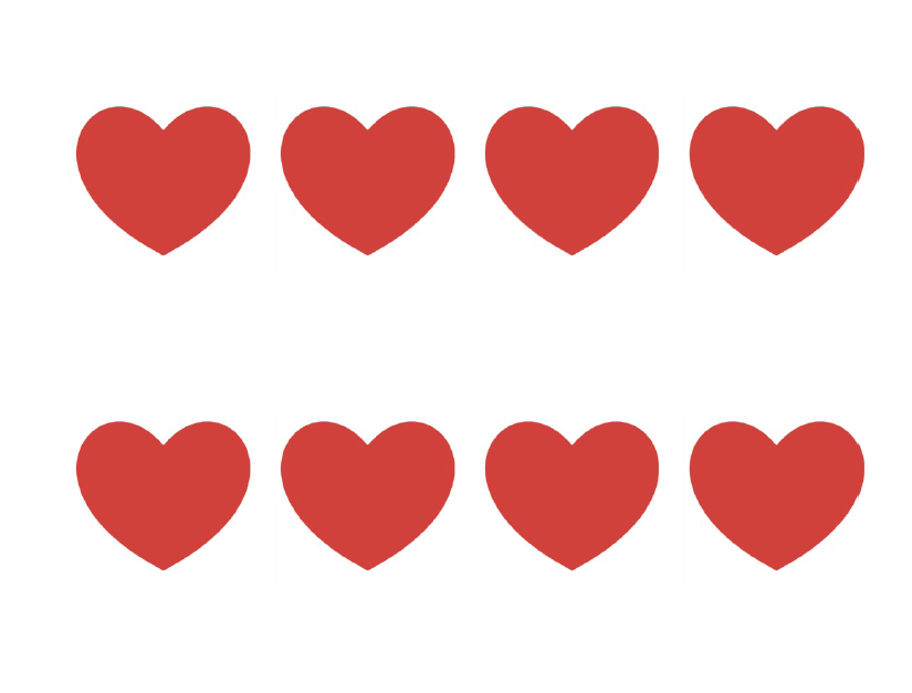 small heart template to print - red heart template clipart best