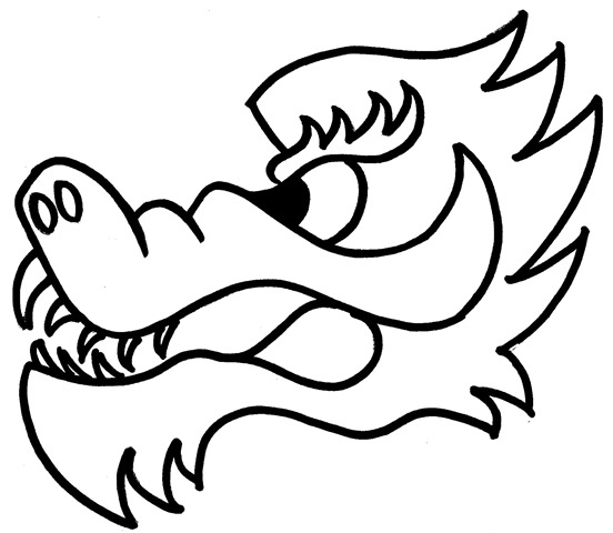 gallery for gt chinese new year dragon head template With chinese dragon face template