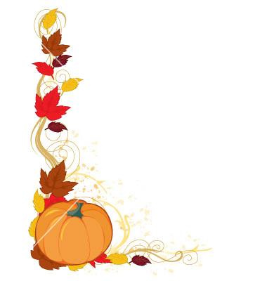 Cute Pumpkin Border Clipart - Free - 53.0KB
