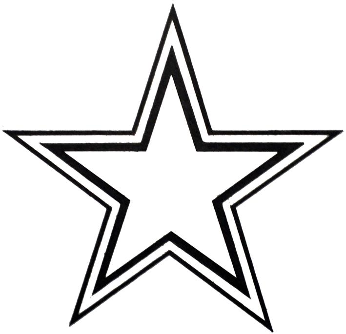 double outline star clipart best dallas cowboy clip art gif dallas cowboys clip art black and white