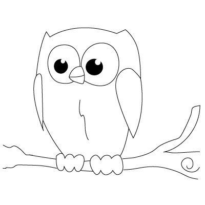 simple owl drawings clipart best