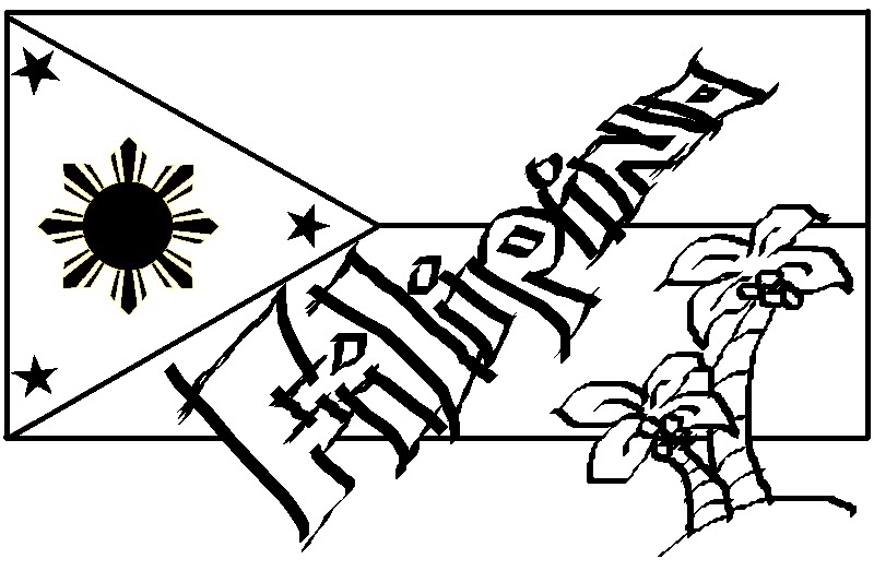 filipino flag black and white . Free cliparts that you can download ...