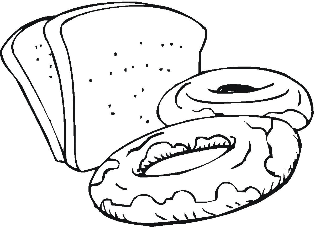 slice of bread coloring page - bread drawing clipart best