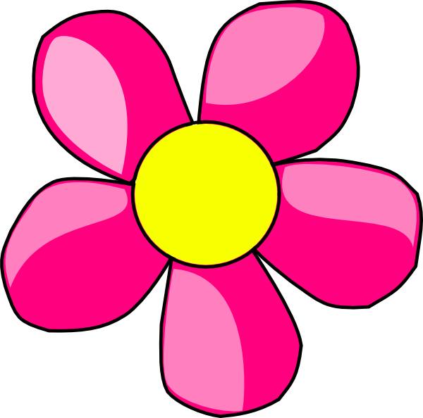 Pink Flower clip art - vector clip art online, royalty free ...