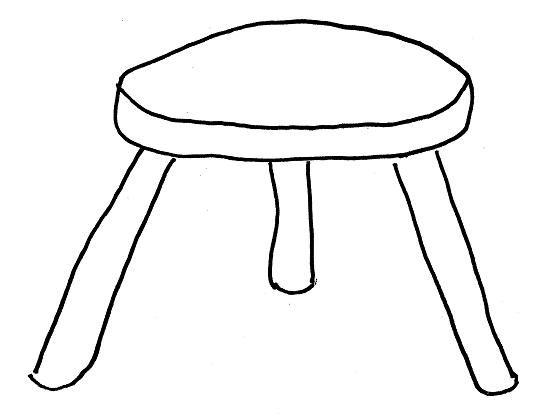 clipart stool three legs-#46