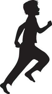 Running Clipart Image - clip art silhouette of a boy ...