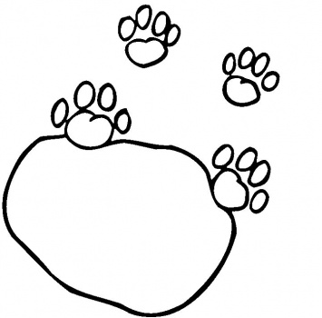 Lion Paw Print Outline