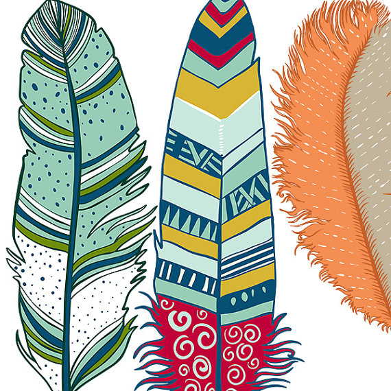 Handmade Spark - FishScraps - Colorful Feather Clip Art - ClipArt ...