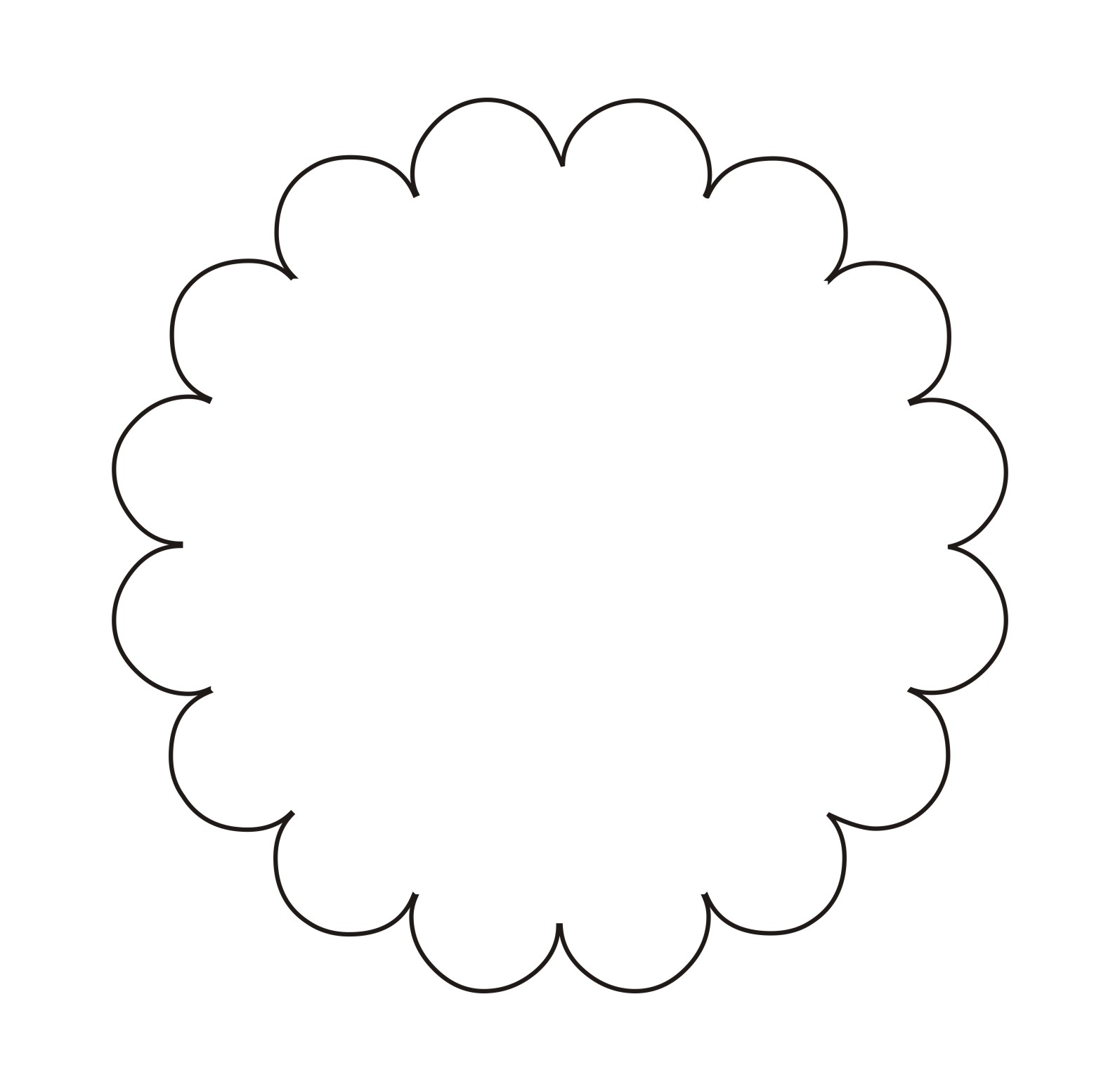 Flower Outline Template ClipArt Best