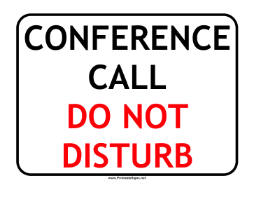 conference call template