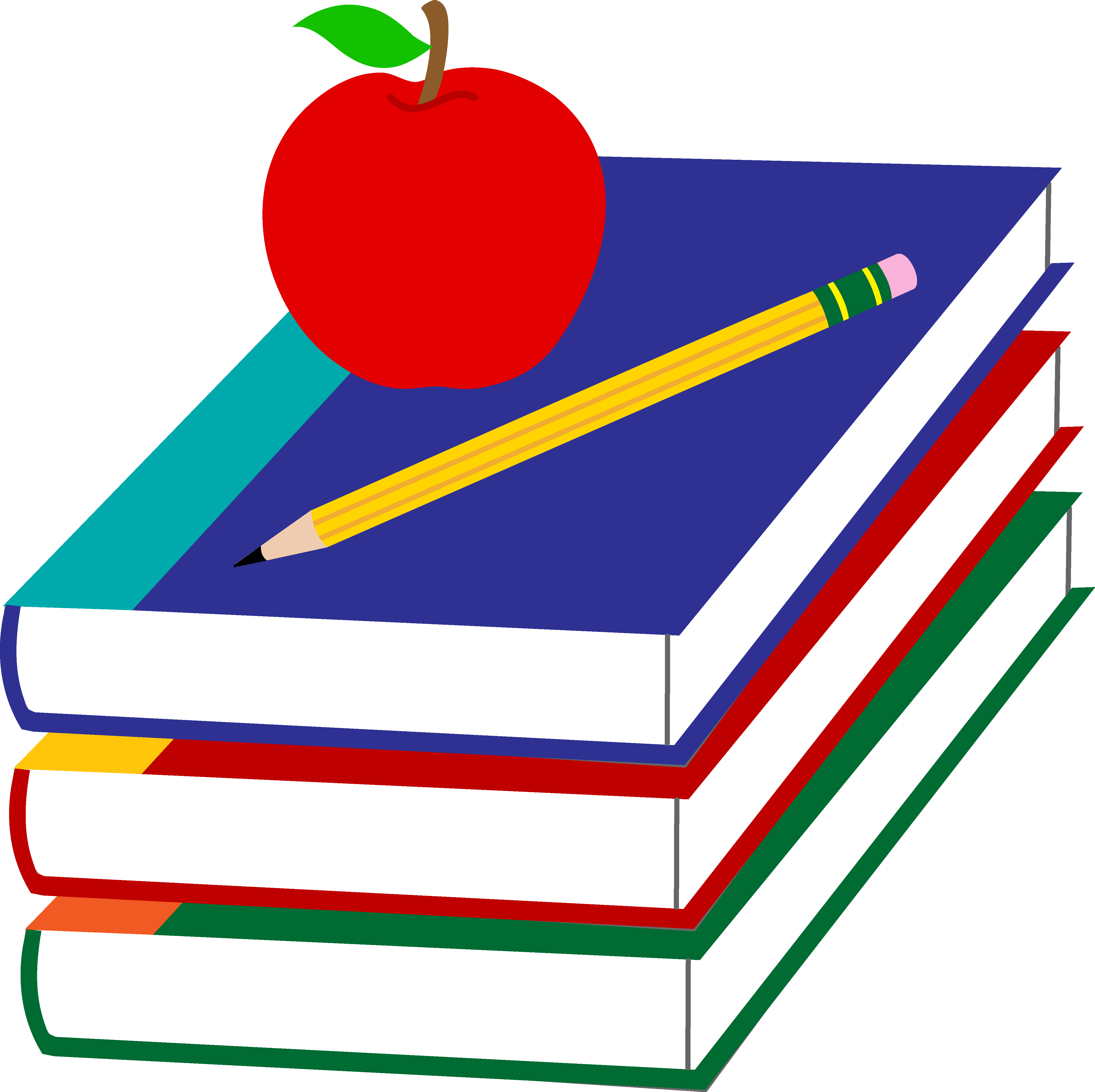 Apple and book clipart