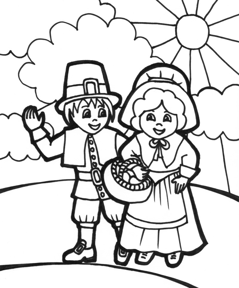 Thanksgiving Pilgrim Coloring Page Thanksgiving Coloring Thanksgiving Pilgrim Coloring Pages