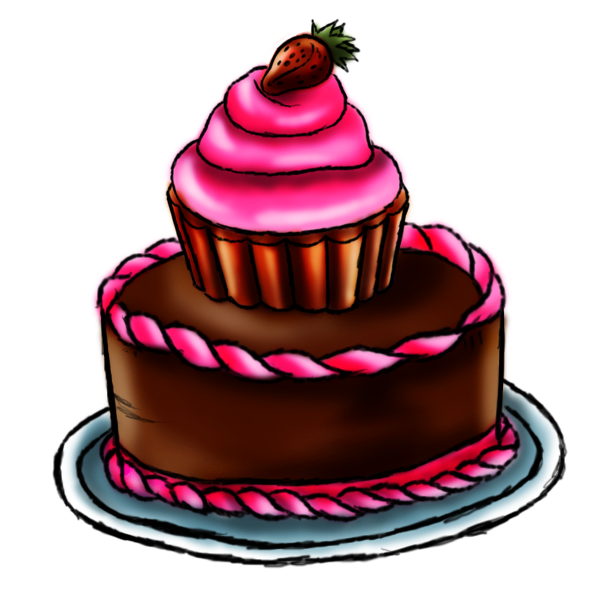 Images Of Cake To Draw : Birthday Cakes Drawings - ClipArt Best