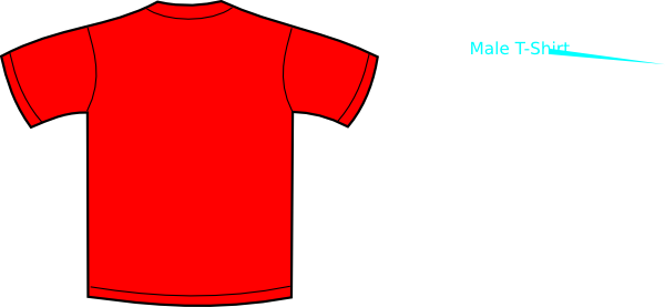 Red t shirt clipart