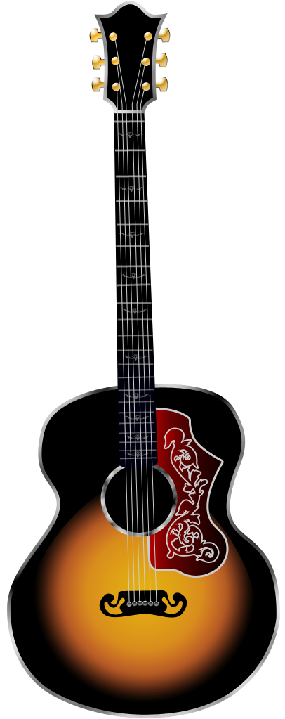 Vintage Guitar Vector - ClipArt Best