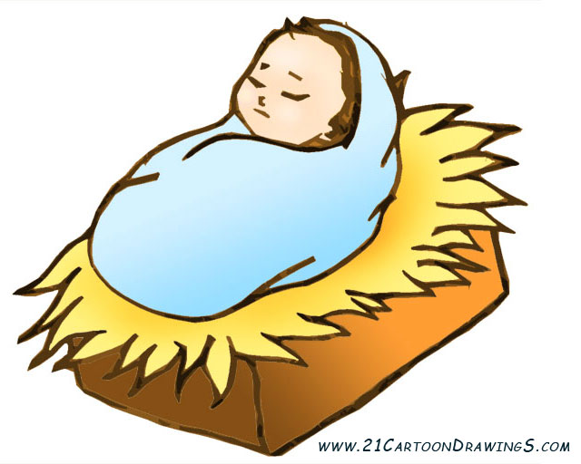 free clipart of baby jesus in a manger - photo #46
