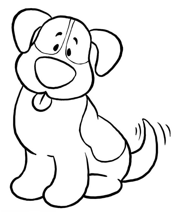 Simple Dog Coloring Pages Ekids Pages Free Printable Easy Coloring Pages