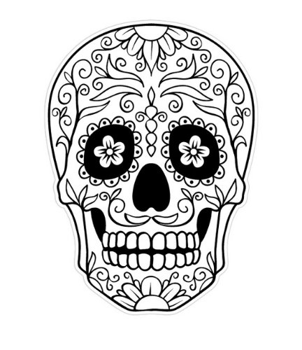 Sugar Skull Coloring Pages - Printable Free Coloring Pages - ClipArt Best -  ClipArt Best
