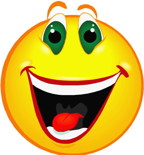 Happy cartoon faces clip art