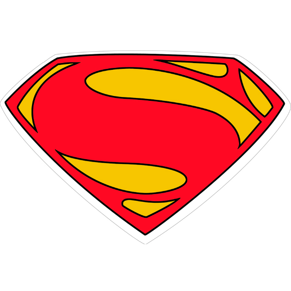 man of steel symbol outline clipart best