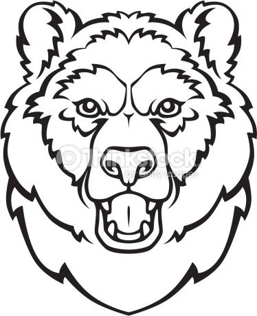 bear head coloring page bear head drawing clipart best